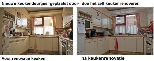 Huis keuken renovatie met nieuwe keukendeurtjes vakman for Keuken outlet alkmaar